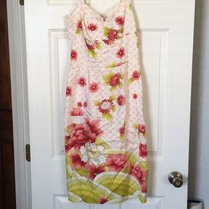 Anthropologie asian inspired summer dress